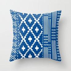 Mali collage Throw Pillow