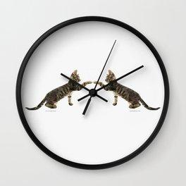 The Mirrored Cat Wall Clock