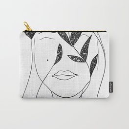 Glitter Lady #1 #minimal #line #art #society6 Carry-All Pouch