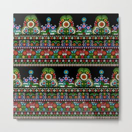 Hungarian embroidery pattern Metal Print