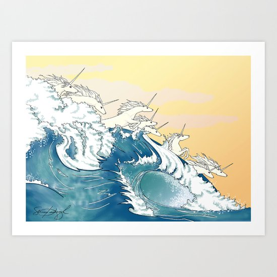 They Are in the Waves Art Print