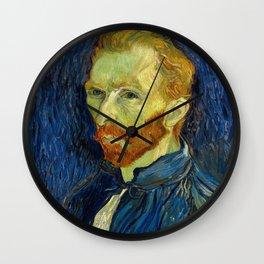 Vincent Van Gogh Self Portrait With Palette Wall Clock
