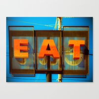 eat Canvas Prints featuring Eat by Squint Photography