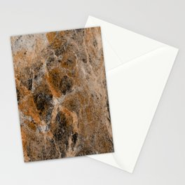 Rusting Marble - Abstract Marble Effect Painting in gold, bronze, black and white Stationery Cards