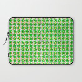 Lucky with gold horseshoes and four leaf clovers Laptop Sleeve
