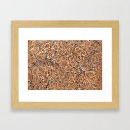 Organic Vintage Texture Framed Art Print
