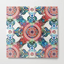 Vibrant Pattern Art - Color Fusion Design 4 By Sharon Cummings Metal Print