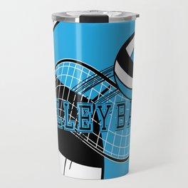 Volleyball Sport Game - Net - Baby Blue Travel Mug