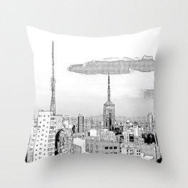 Sao Paulo -Art Throw Pillow