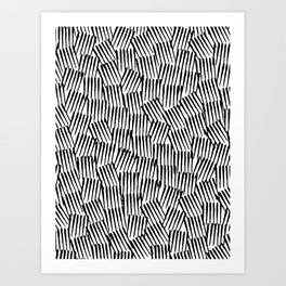 Crosshatched yourself Art Print