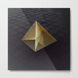 Golden pyramid Metal Print