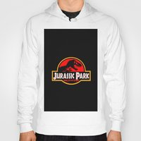 jurassic park Hoodies featuring Jurassic Park by MrWhite