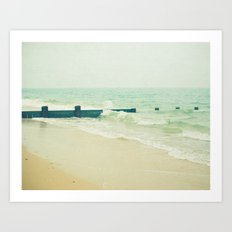 Sea Groyne Art Print