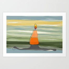 Candle Light Art Print