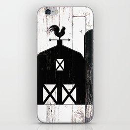 Faux White Wood & Black Barn iPhone Skin