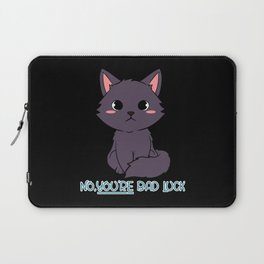 No, You're Bad Luck Black Cat Puns Laptop Sleeve