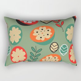 Floral, fruity, leaves Rectangular Pillow