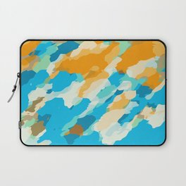 blue orange and brown dirty painting abstract background Laptop Sleeve