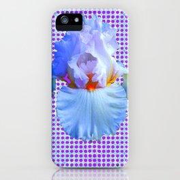 AWESOME BLUISH-WHITE PASTEL IRIS OPTICAL ART iPhone Case