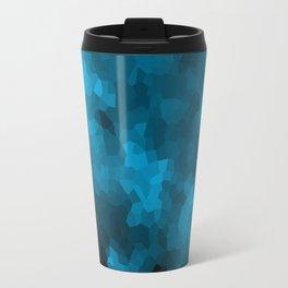 Blue abstract polygonal background Travel Mug