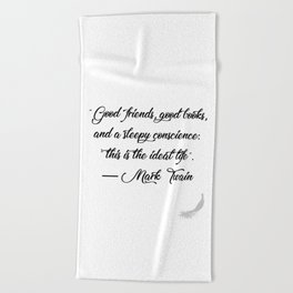 Quote 1 Beach Towel