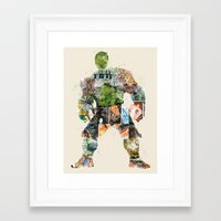 superheros Framed Art Prints featuring dont make him angry by bri.buckley