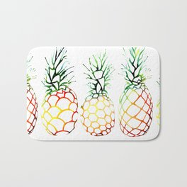 Retro Pineapples Bath Mat