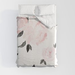 Vintage Blush Floral - BW Duvet Cover
