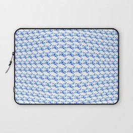 Minimalist Blue Pegasus Bubble Print Laptop Sleeve