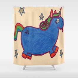 Karly's Unicorn Shower Curtain