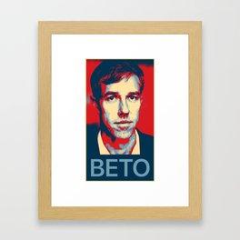 Beto O'Rourke Texas Democrat Progressive Senate Framed Art Print
