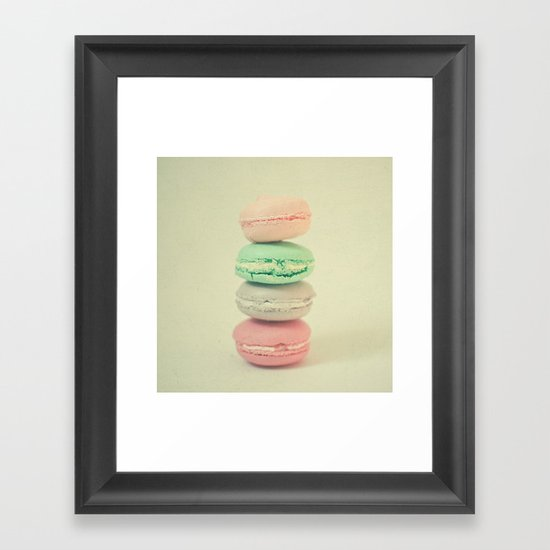 Four Macarons Framed Art Print