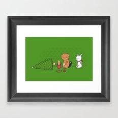 Beavers ruin Christmas Framed Art Print