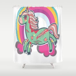 Zombicorn Zombie Unicorn Undead Pastel Halloween T-Shirt Shower Curtain