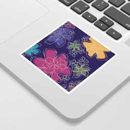 Floral - #Bright #Flowers #Abstract #Pattern Sticker
