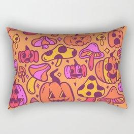 Mushrooms and Pumpkins Rectangular Pillow