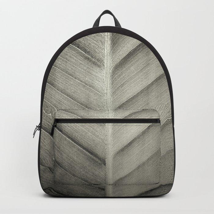 Leaf Black & White Backpack