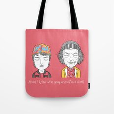 Roads? Where we're going we don't need roads. Tote Bag