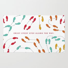 Enjoy Every Step - Colorful Rug