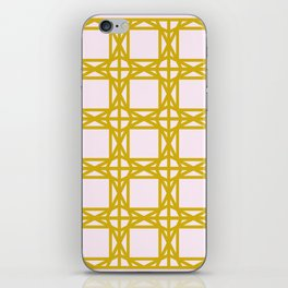 DG GEOMETRIC – MUSTARD PINK iPhone Skin