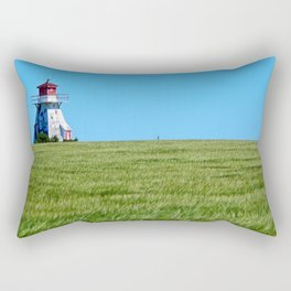 Lighthouse and the Crop Field Rectangular Pillow