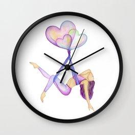 Aerial hammock, silks, hearts, must have aerial hammock lover  Wall Clock