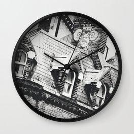 London Chimney Graffiti Wall Clock
