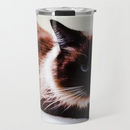 Birman Cat Named Lucy Liu Travel Mug