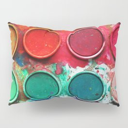Paintbox Color Palette Pillow Sham