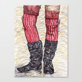 Black Slouch Canvas Print