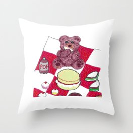 Teddy bear's picnic Throw Pillow