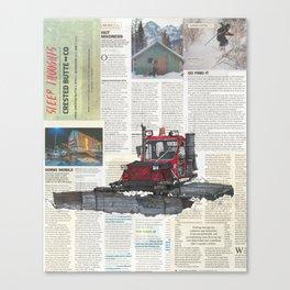 Snowcat No.1 Canvas Print