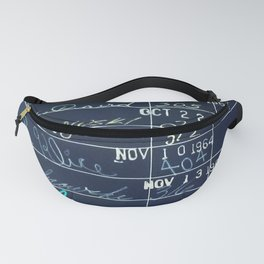 Library Card 23322 Negative Fanny Pack