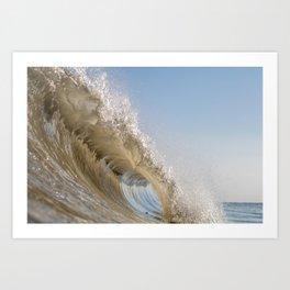Golden Splash Art Print
